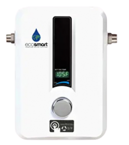 EcoSmart ECO 11 Electric Tankless Water Heater, 13KW at 240 Volts with Patented Self Modulating Technology; on demand hot water heater