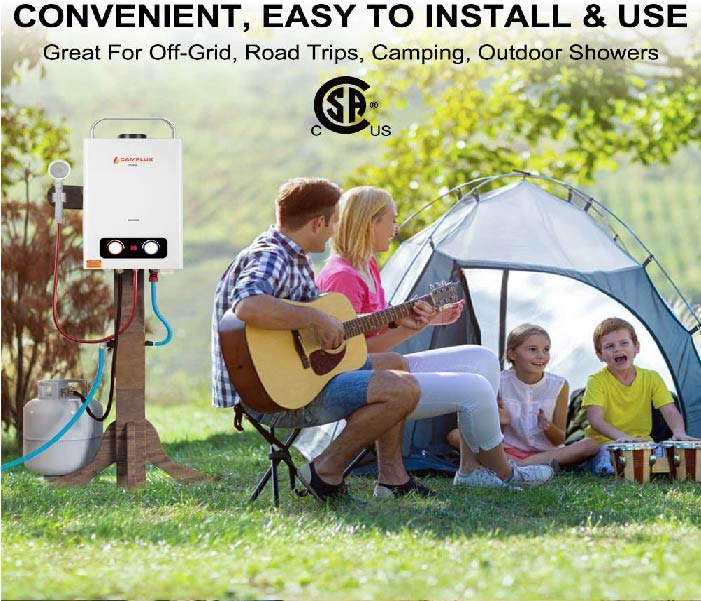 Great for off-grid, Road trips, camping and outdoor showers