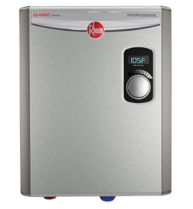 Rheem RTEX-18 18kW 240V Electric Tankless Water Heater, small, Gray; best hot water heater