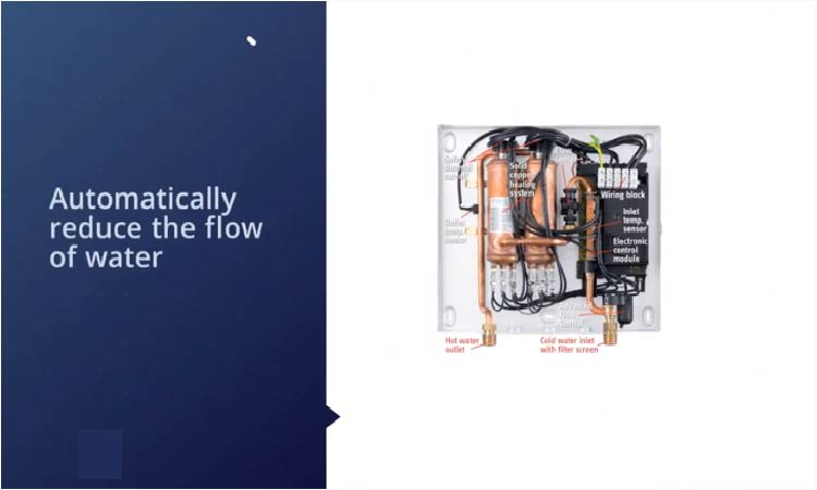 automatically reduce the flow of water
