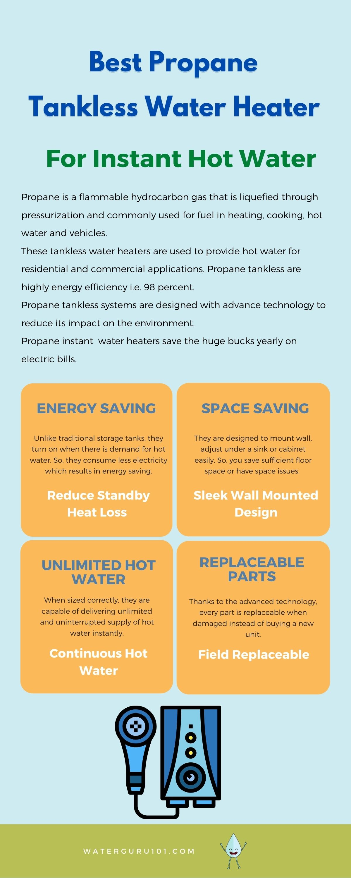 best propane tankless water heater infographics