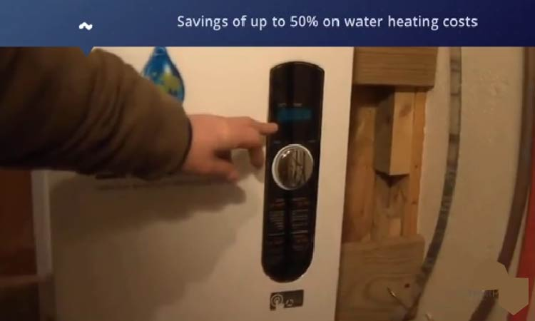 digital control helps saving upto 50% on water heating cost