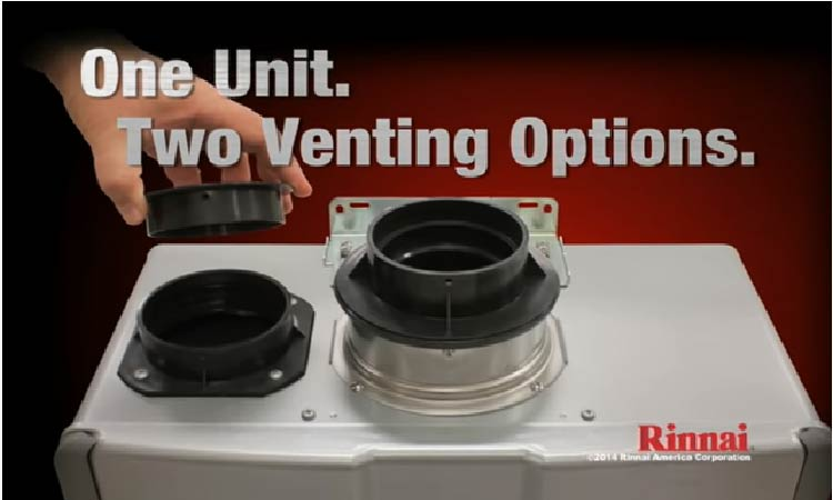 two venting options: concentric & PVC venting