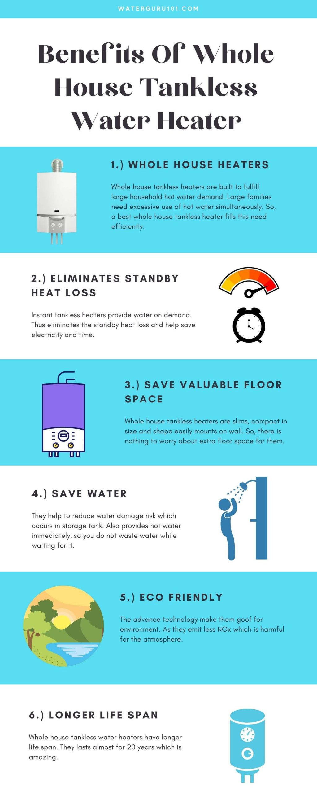 Advantages of whole house tankless water heaters