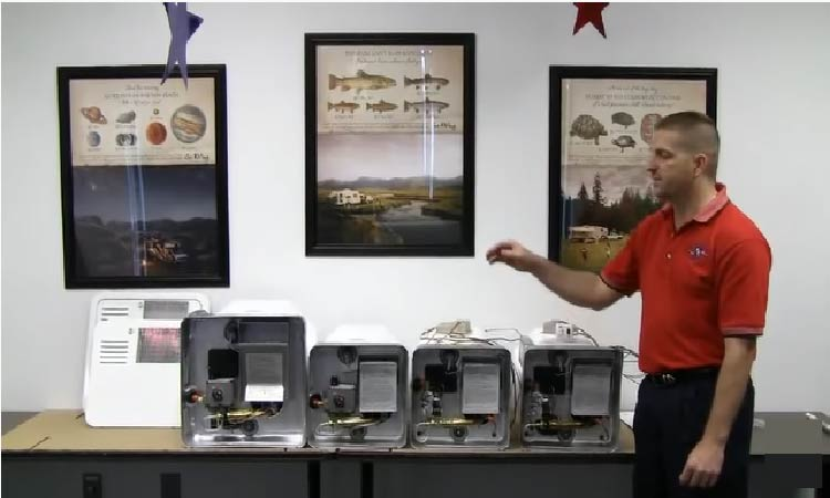 Different models of Suburban Rv water heaters