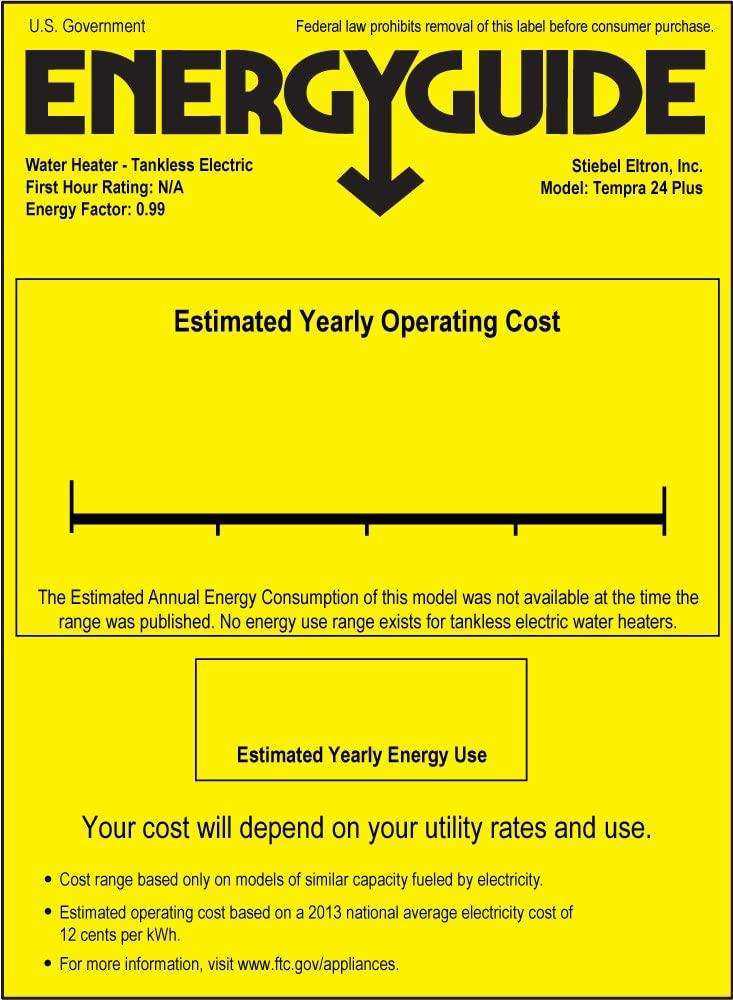estimated yearly energy use