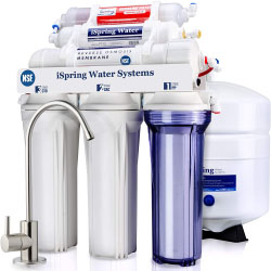 iSpring RCC7AK, NSF Certified, 6-Stage Superb Taste High Capacity Under Sink Reverse Osmosis Drinking Water Filter System with Alkaline Remineralization-Natural pH