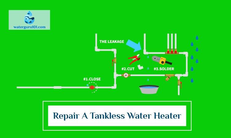 Repair a tankless water heater
