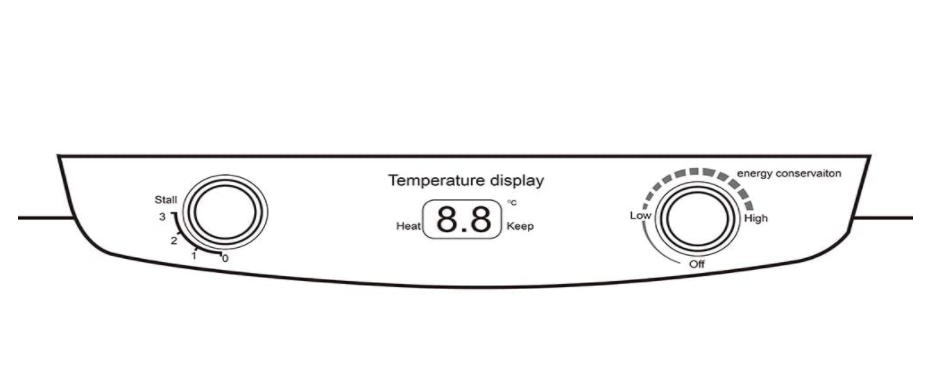 Digital control makes it easy to set the desired temperature