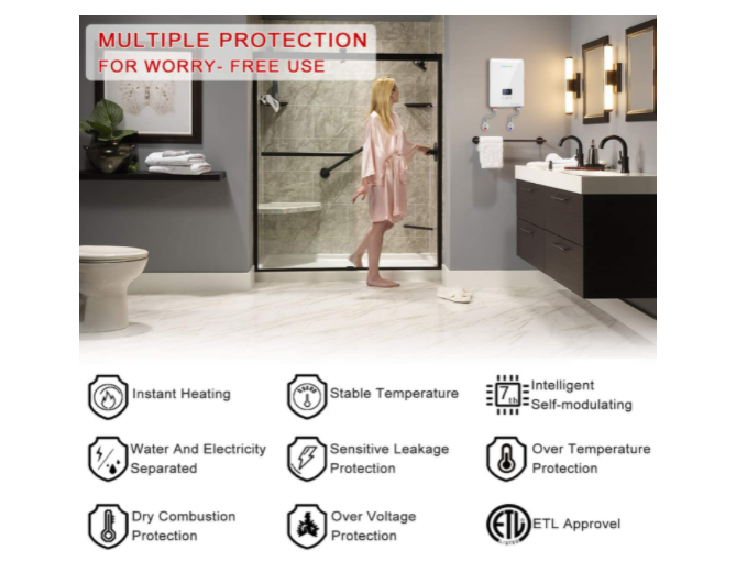 Salient Features of ECOTOUCH hot water heater