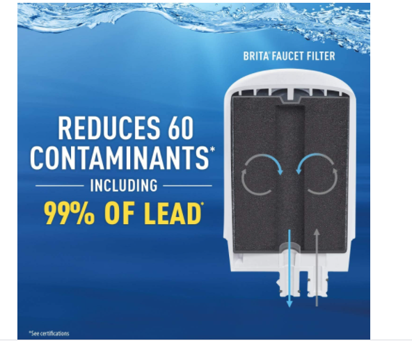 Reduces Lead and 60 contaminants